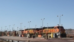 BNSF 6198 and 5741 With a Full Coal Train at Fueling Rack
